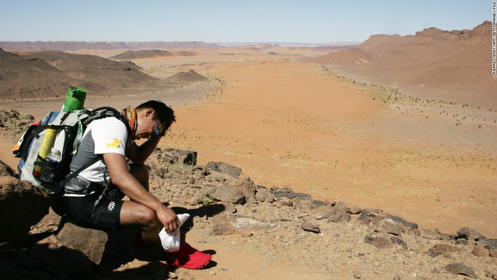 Participants test both their bodies and minds as they take on blazing temperatures in their epic desert crossing.
