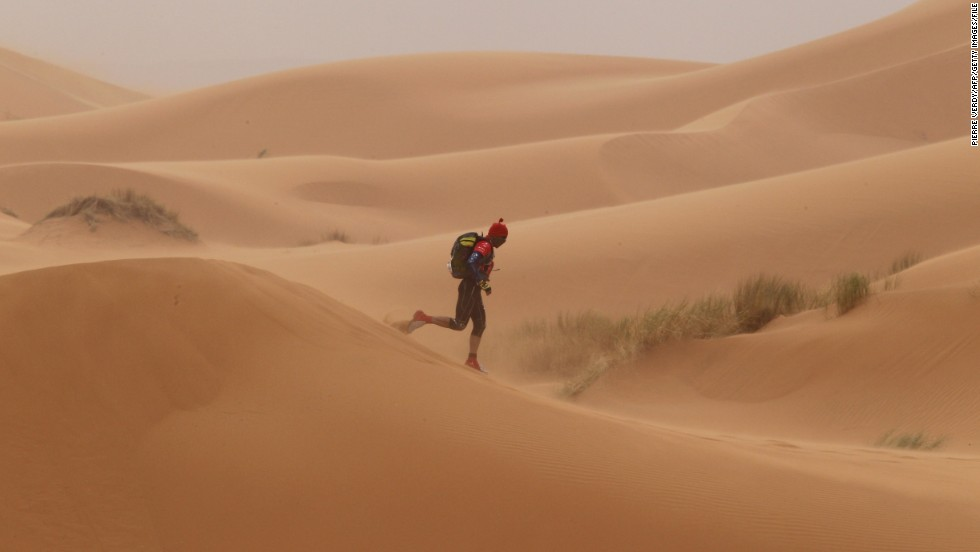 Known as the world's most difficult footrace, the MDS requires competitors to complete the equivalent of five and a half marathons over six stages, in extreme heat that can reach 50C.