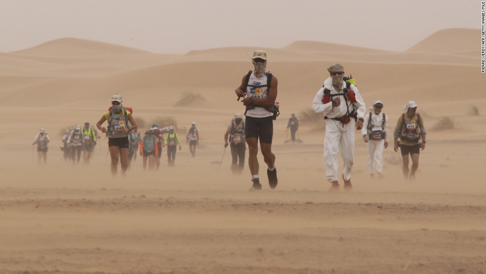 Whipping sandstorms are also frequent, making conditions even harder for participants. There have been three deaths in the 28 years the race has been taking place.
