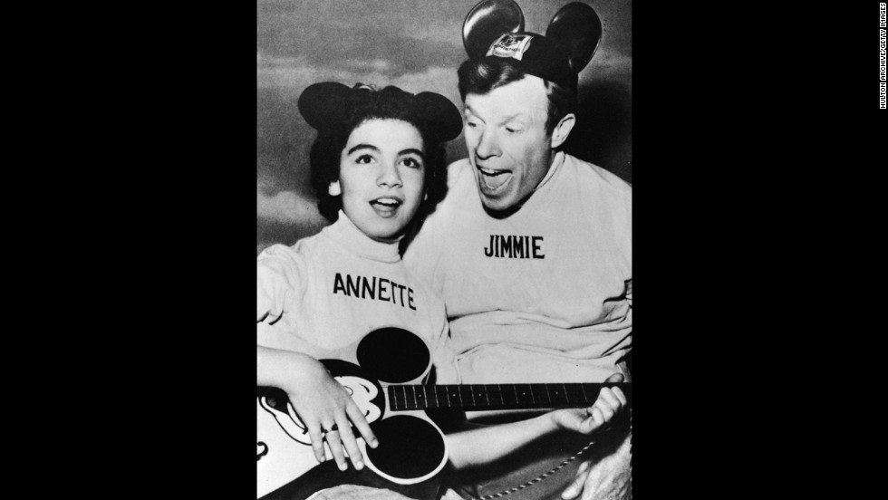 "<a href=""http://www.cnn.com/2013/04/08/showbiz/annette-funicello-obit/index.html"">Annette Funicello</a>, one of the best-known members of the original 1950s ""Mickey Mouse Club"" and a star of 1960s ""beach party"" movies, died at age 70 on April 8. Pictured, Funicello performs with Jimmie Dodd on ""The Mickey Mouse Club""  in1957."