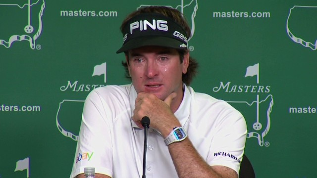 Bubba Watson cries over Masters memory