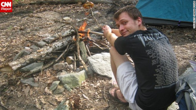 Peter Lapa-Lilly, then 23, on the Appalachian Trail in Maryland in fall 2010. He died from a self-inflicted gunshot on April 13, 2012.