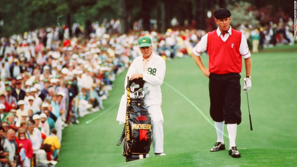 The late Payne Stewart played on the PGA Tour in the 1980s and '90s, though his wardrobe of plus-fours and Tam o' Shanter caps recalled a bygone era. Stewart died in a plane crash, along with four others, in 1999. He was inducted posthumously into the World Golf Hall of Fame in 2001.