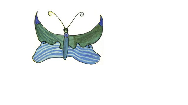 A butterfly Christina drew at school is the symbol of her memorial foundation
