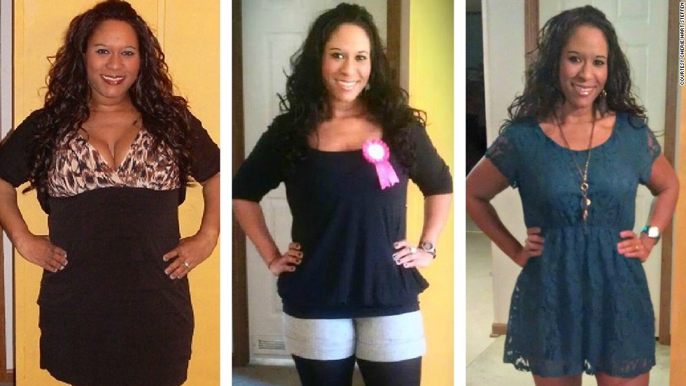 These photos, taken on Steffen's birthday in 2010, 2011 and 2012, show her dramatic weight loss.