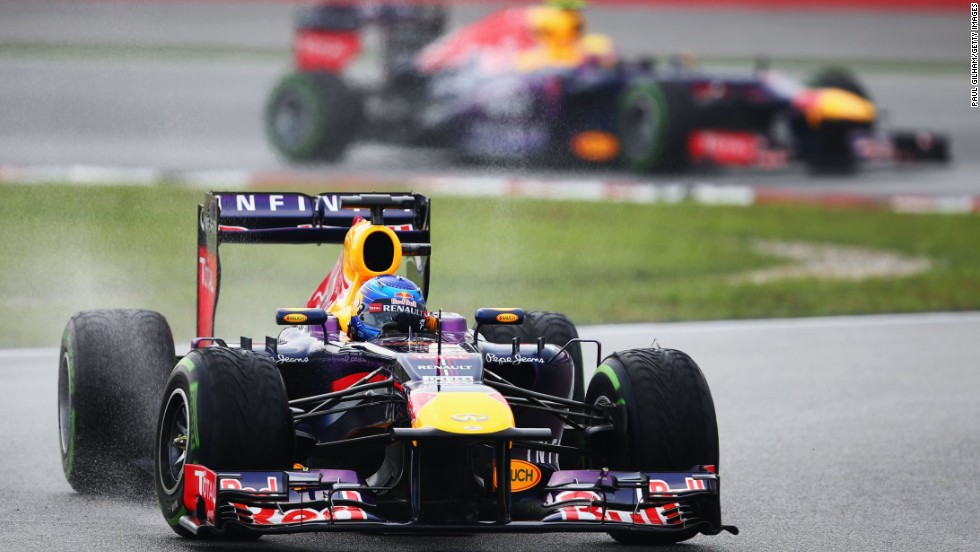 Vettel leads Webber during the Malaysia Grand Prix in Sepang in March. It's not the first time team orders have caused rifts between drivers.