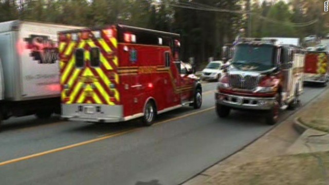 Hear call from firefighter taken hostage