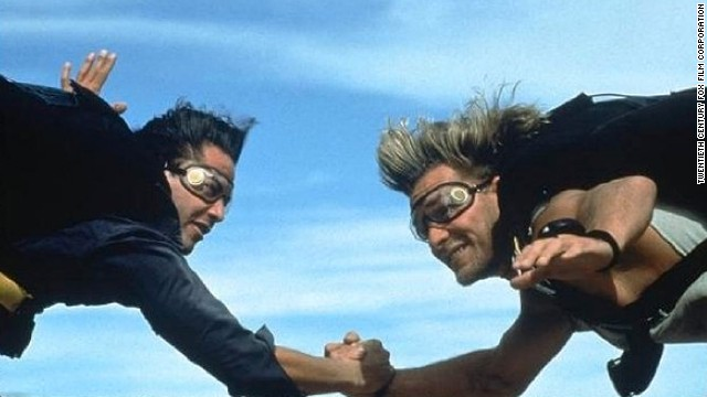 "Keanu Reeves and Patrick Swayze star in 1991's ""Point Break."""