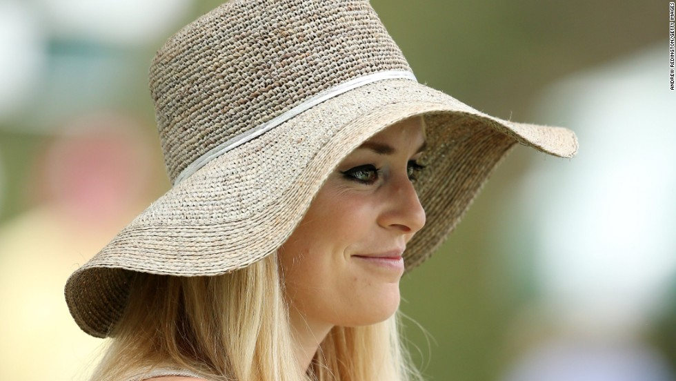 U.S. skier Lindsey Vonn attends the first round.