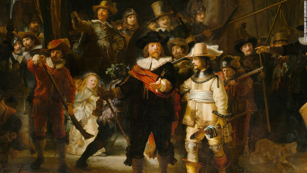 "At the heart of the gallery is its most-prized possession, ""The Night Watch,"" by Rembrandt van Rijn (1642). The museum was designed around the painting, and it is the only artwork to be returned to its original place."