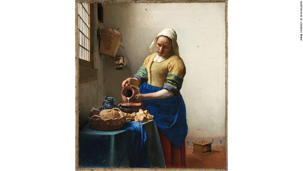 "The Rijksmuseum is also home to several works by Johannes Vermeer -- ""The Milkmaid"" (1658-1660) is among those taking pride of place in the church-like Gallery of Honor."