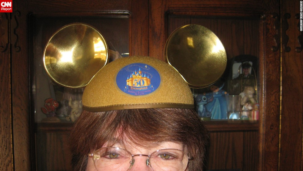 "Kathi Cordsen's 8th birthday was a dream come true. The Fullerton, California, resident got to go to Disneyland all by herself. Years later, in 2005, she acquired these treasured <a href=""http://ireport.cnn.com/docs/DOC-953723"">golden mouse ears</a> for Disneyland's 50th anniversary."