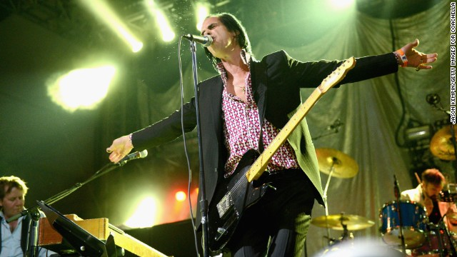 Nick Cave performing at Coachella.