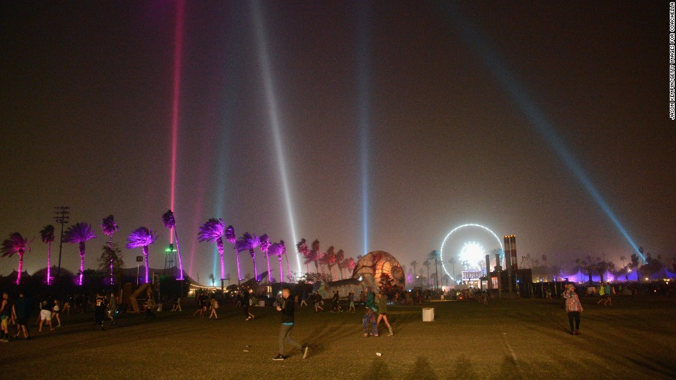A view of the 2013 Coachella Valley Music And Arts Festival on the first weekend, April 14.