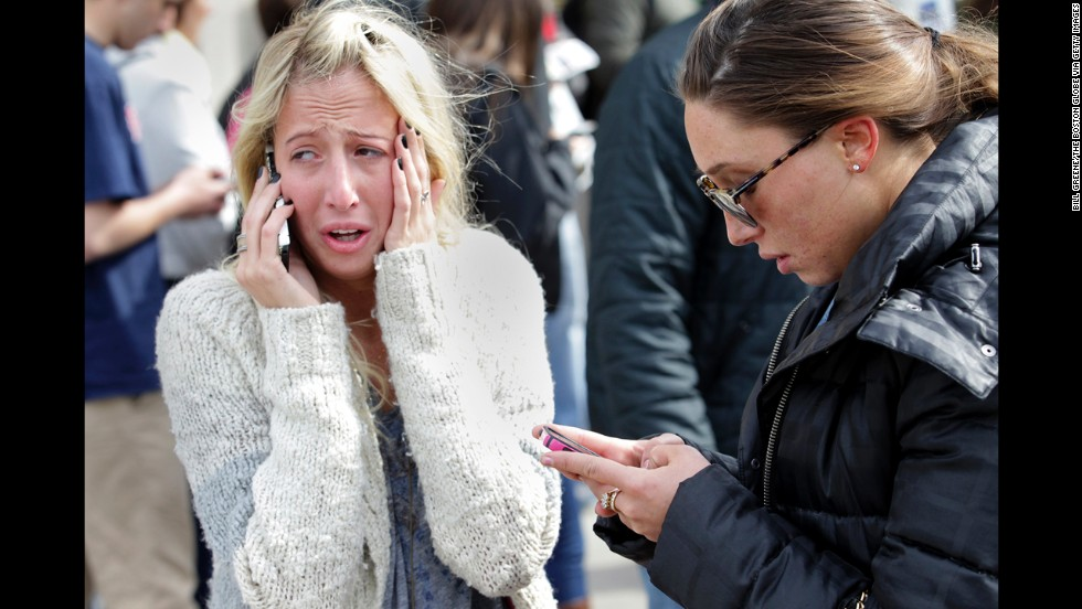 Women desperate to hear from loved ones are unable to get close to the site of the attack.