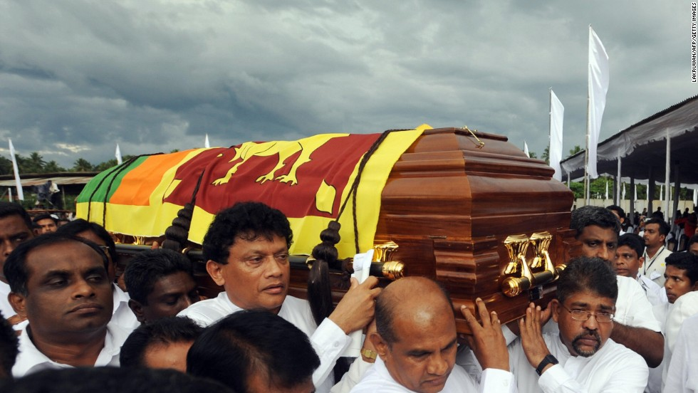 In April 2008, a suspected Tamil Tiger suicide bomber detonated a device at the start of a marathon celebrating Sri Lanka's New Year. Highways minister Jeyaraj Fernandopulle, former Olympic marathon runner KA Karunaratne and the national athletics coach, Lakshman de Alwis, were among the dozen people killed.