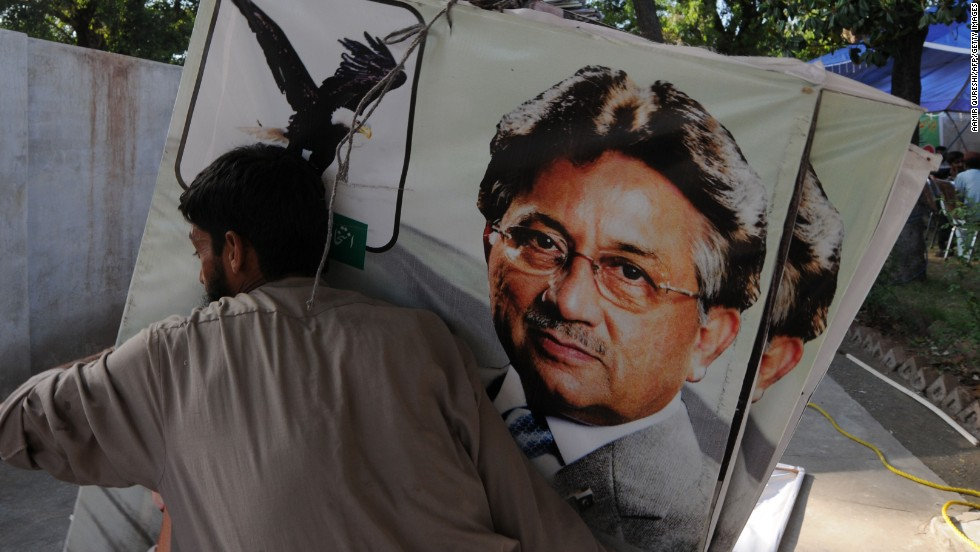 Former president Pervez Musharraf announced plans to run in the elections after returning from exile last month, but was disqualified from the race amid claims he illegally placed senior judges under house arrest during his rule.