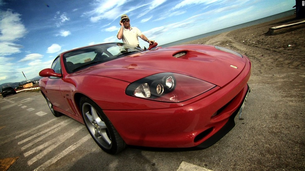 Another love of Jimenez's is his Ferrari -- he might be laid back but the need for speed still gives him a thrill.