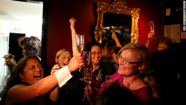 Celebrations begin after the bill that makes same-sex marriage legal in New Zealand passed the parliamentary vote.