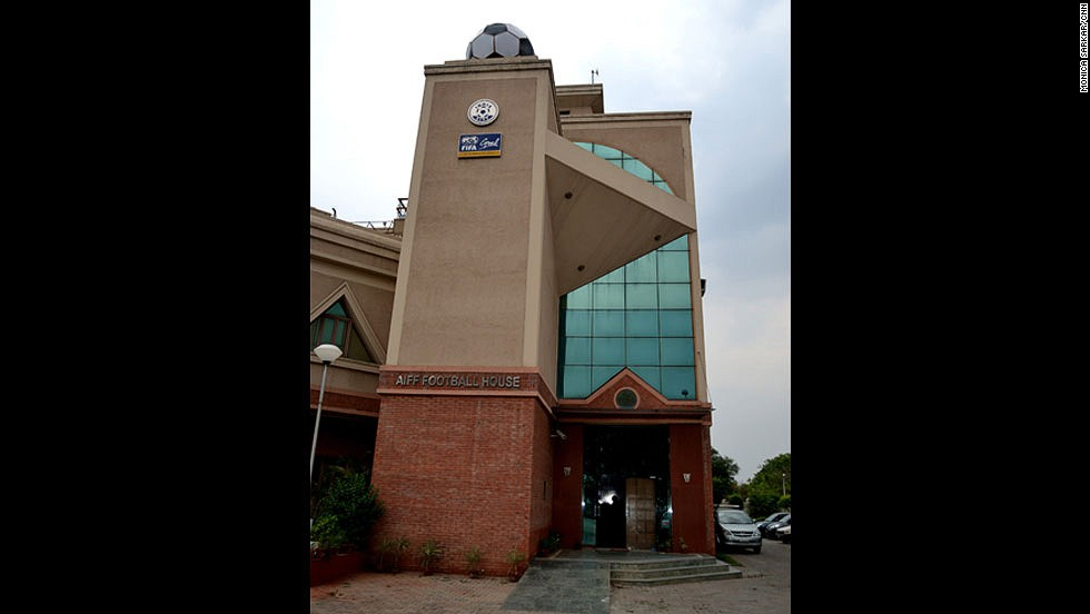 The All India Football Federation -- AIFF -- headquarters in the sub city of Dwarka in southwest Delhi. The federation has governed Indian football for more than 75 years.