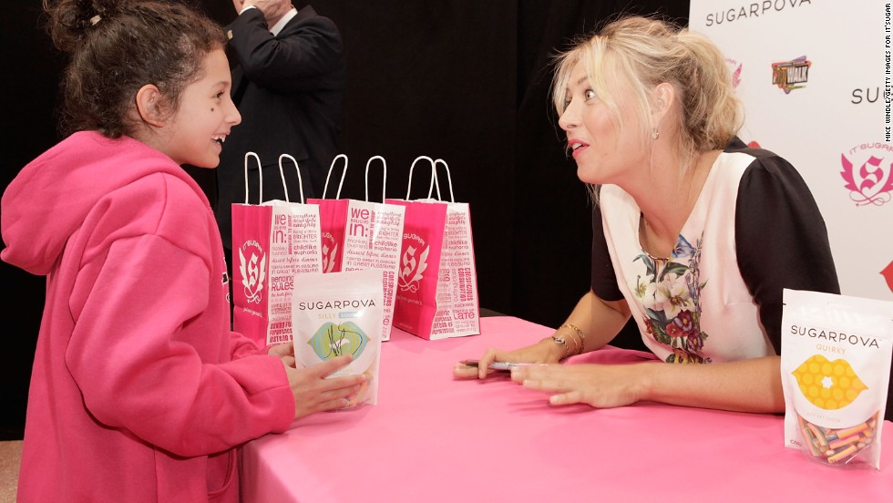 "Sharapova's ""Sugarpova"" candy collection is her first independent venture. ""Everyone loves a treat and everyone loves candy. When I was young and I would finish a practice, what would I ask for? I would ask for little lollipops,"" she told Open Court."