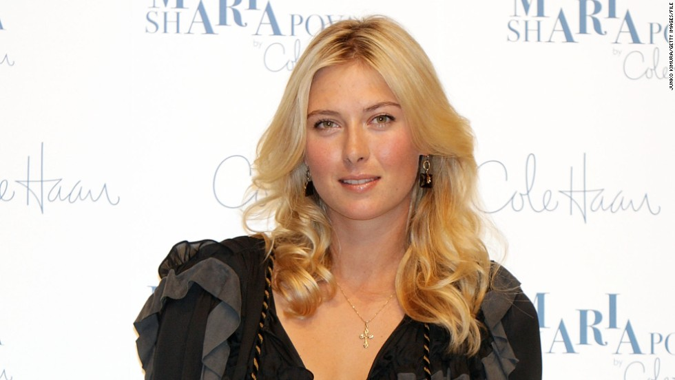 Part of that sum includes royalties from her fashion collection with Nike subsidiary Cole Haan. Sharapova is pictured here at a promotional event in Tokyo in 2009.