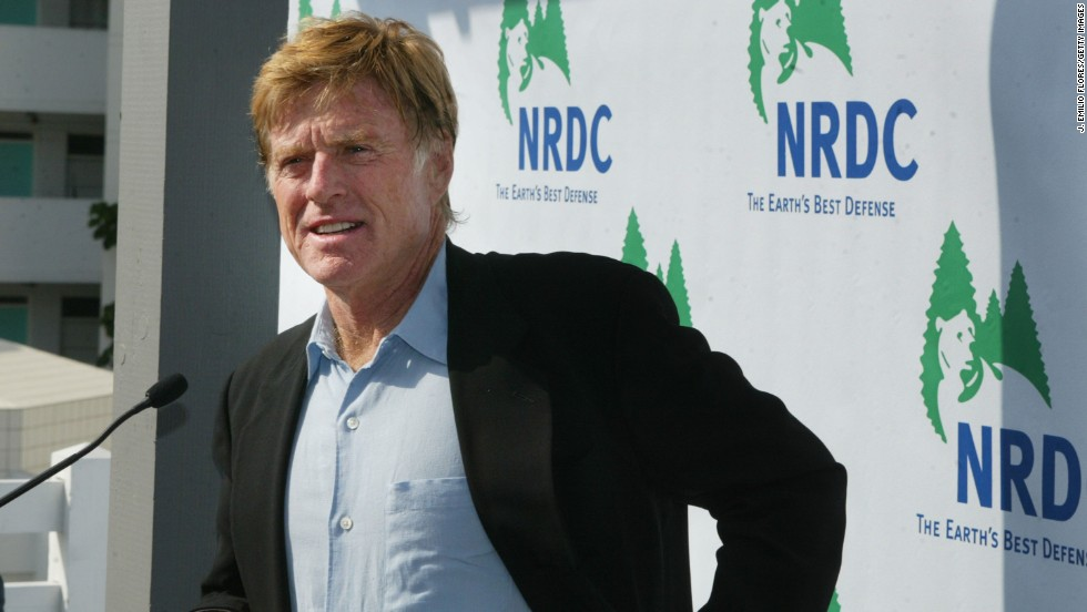 "Actor Robert Redford <a href=""http://www.time.com/time/specials/2007/article/0,28804,1663317_1663319_1669890,00.html"" target=""_blank"">made the environment his cause</a> decades ago, whether it was Alaskan wildlife refuges or climate change. For his commitment, Redford was honored with the Walden Woods Project's 2014 Global Environmental Leadership Award on September 15. Here, Redford speaks at the opening of the Natural Resources Defense Council building in Santa Monica, California, in 2003. It's named the Robert Redford Building. Redford is just one of many celebs who've taken a stand or taken a chance to change the way we power the planet."