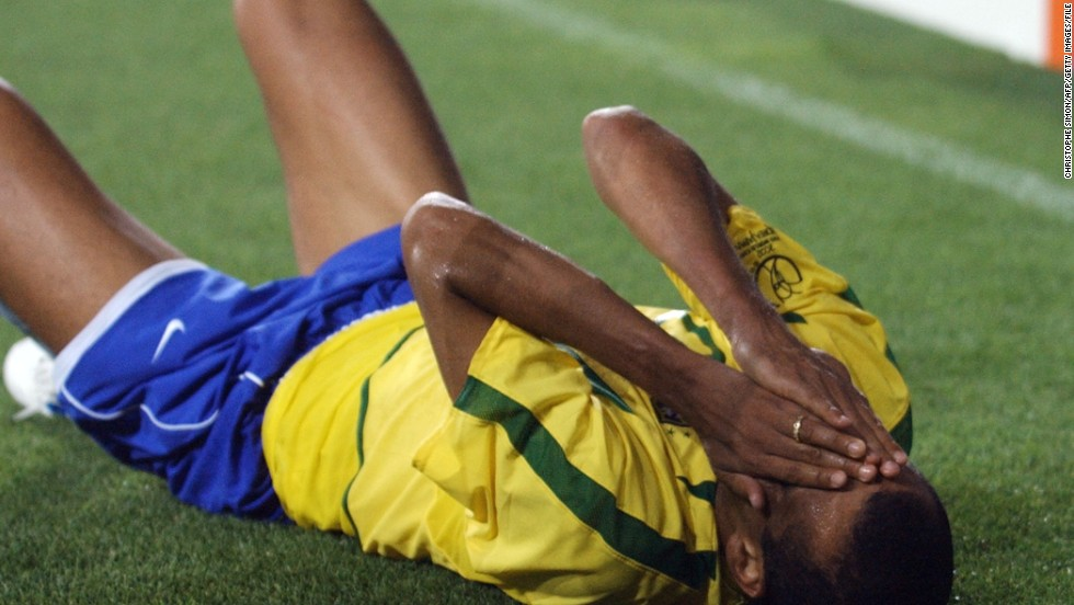 It is not just acts of violence which can make players unpopular. Brazil's Rivaldo was criticized, and ridiculed, following a group stage match against Turkey at the 2002 World Cup. Rivaldo went to the floor claiming Hakan Unsal had kicked the ball into his face, despite replays showing it had clearly hit him in the leg. Unsal was given a second yellow card and sent off, while Brazil went on to win the match 2-1. FIFA retrospectively punished Rivaldo with a fine, but the playmaker had the last laugh as Brazil went on to lift football's biggest prize for a record fifth time.