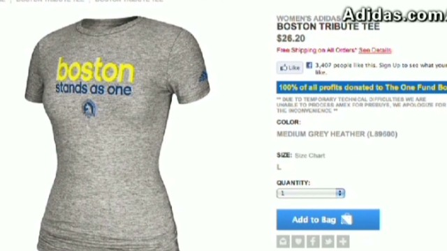 Boston merchandise in high demand