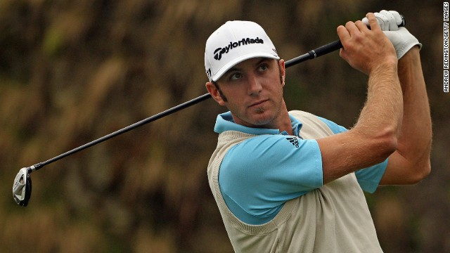 U.S. golfer Dustin Johnson played in the 2011 Ballantine's Championship in South Korea.