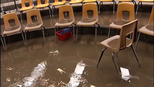 Flooding leaves classrooms unusable