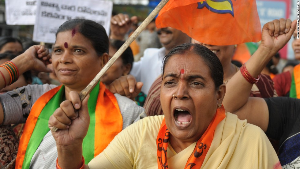 "Activists and supporters of the Bharatiya Janata Party protest against the rape of a 5-year-old girl in Hyderabad on Tuesday, April 23. Demonstrations have taken place across the state since a man was arrested in the rape of the girl in New Delhi. There have been high-profile assaults in India since December, when a woman was gang raped on a bus. <a href=""http://www.cnn.com/2012/12/22/world/gallery/india-rape-protest/index.html"">See photos of outrage over the sexual assault in December.</a>"