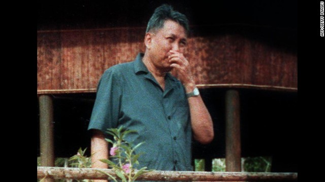 Pol Pot, former leader of the Khmer Rouge.