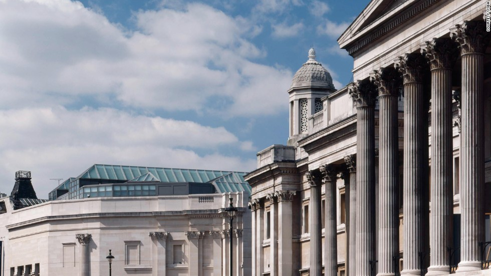 The Sainsbury Wing at London's National Gallery was built on the last open space in Trafalgar Square.