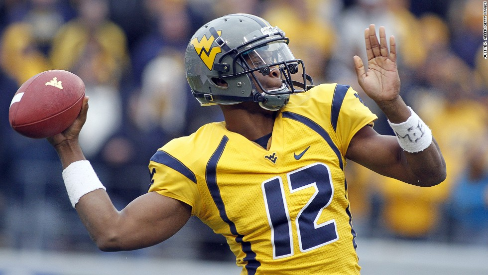 "West Viriginia's Geno Smith has been <a href=""http://bleacherreport.com/articles/1599736-geno-smith-5-things-you-need-to-know-about-the-west-virginia-qb"" target=""_blank"">tipped by some as the best quarterback in the draft. </a>Last year he broke the Mountaineers' consecutive pass completions record and <a href=""http://www.big12sports.com/ViewArticle.dbml?DB_OEM_ID=10410&ATCLID=205819874"" target=""_blank"">tied the NCAA completion percentage record.</a>"