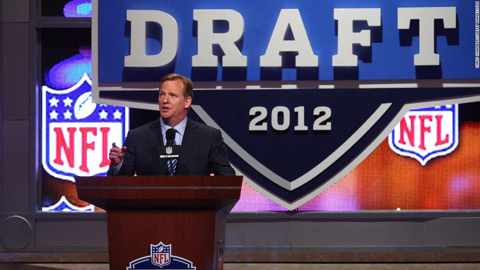 NFL Commissioner Roger Goodell takes center stage at the draft, which is held each year at New York's iconic Radio City Music Hall.