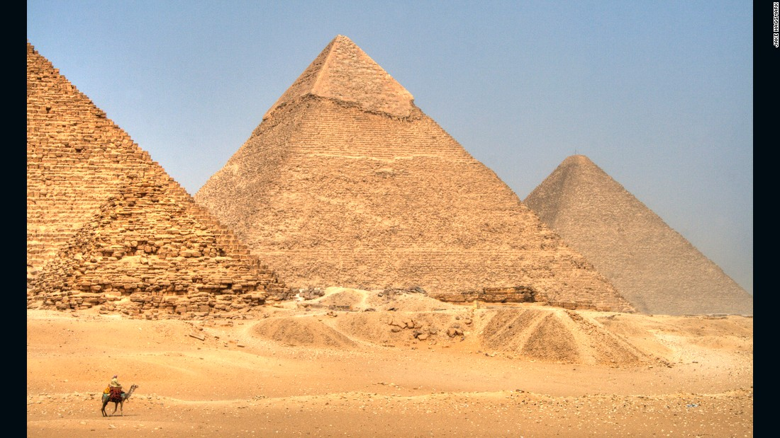 The Pyramid fields from Giza to Dahshur are one of the seven wonders of the world and remain the only one of the original list still in existence.