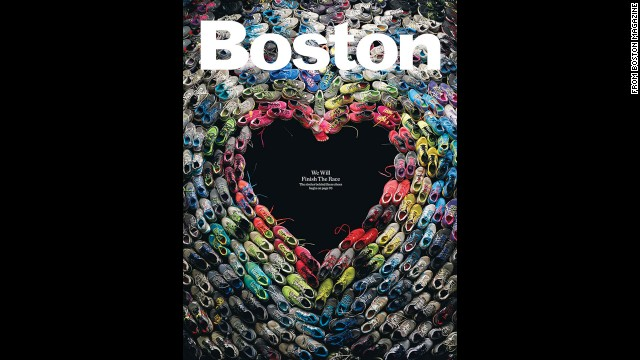 Magazine's cover honors Boston, victims