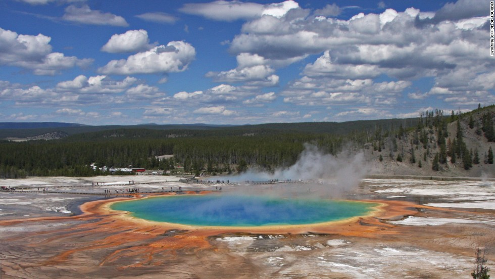 Earth's climate and geology has been shaped by supervolcanoes, too.  Yellowstone is a great example. The giant eruption that formed the caldera there happened 640,000 years ago. About 70,000 years ago, there was a much smaller lava flow eruption -- that was the most recent volcanic activity there.