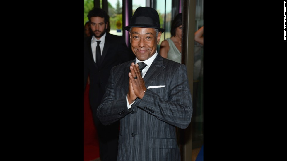 "Actor Giancarlo Esposito, from ""Revolution"" and ""Breaking Bad,"" pauses for a photograph on the red carpet."