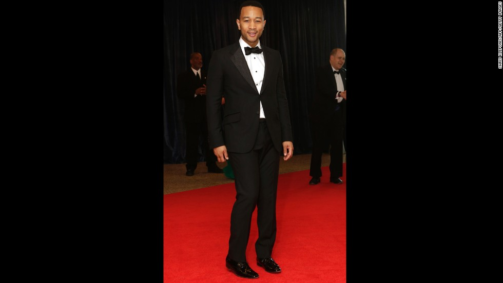 Entertainer John Legend arrives.