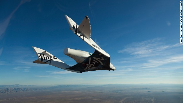 Richard Branson's Virgin Galactic is one of the businesses that could use a British spaceport. Here, Virgin Galactic's SpaceShipTwo is pictured during a glide flight.