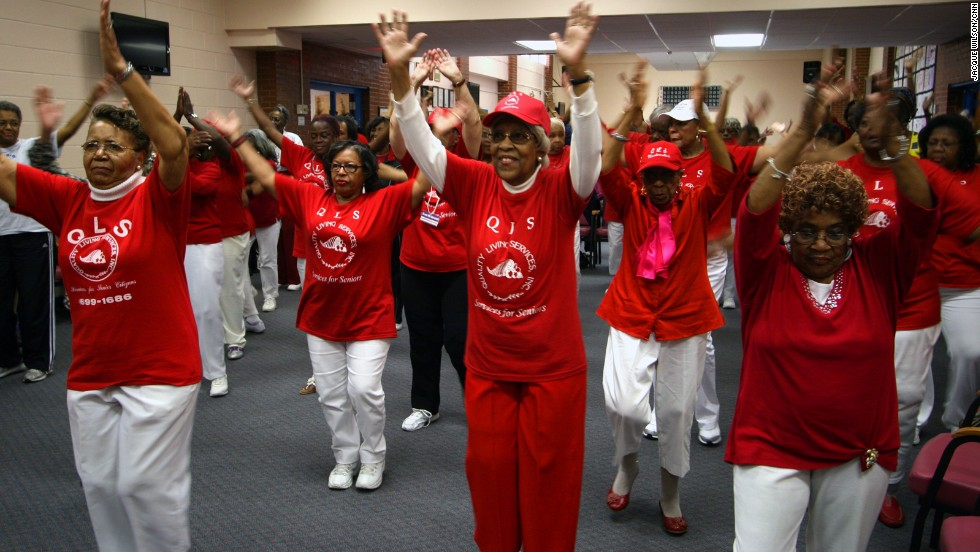 Magnum also teaches what he says is the largest seniors aerobics class in the United States. More than 100 of the center's residents -- some of them nearing 100 years old -- gather to groove to music on Wednesdays. Aerobics helps coordination, balance, energy and mental health, Magnum says.