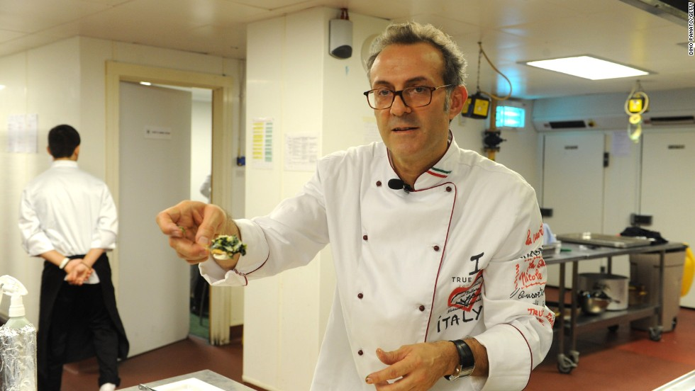 3. Massimo Bottura is the chef of Osteria Francescana in Modena, Italy. His restaurant landed at number three on the list as it did in 2013.