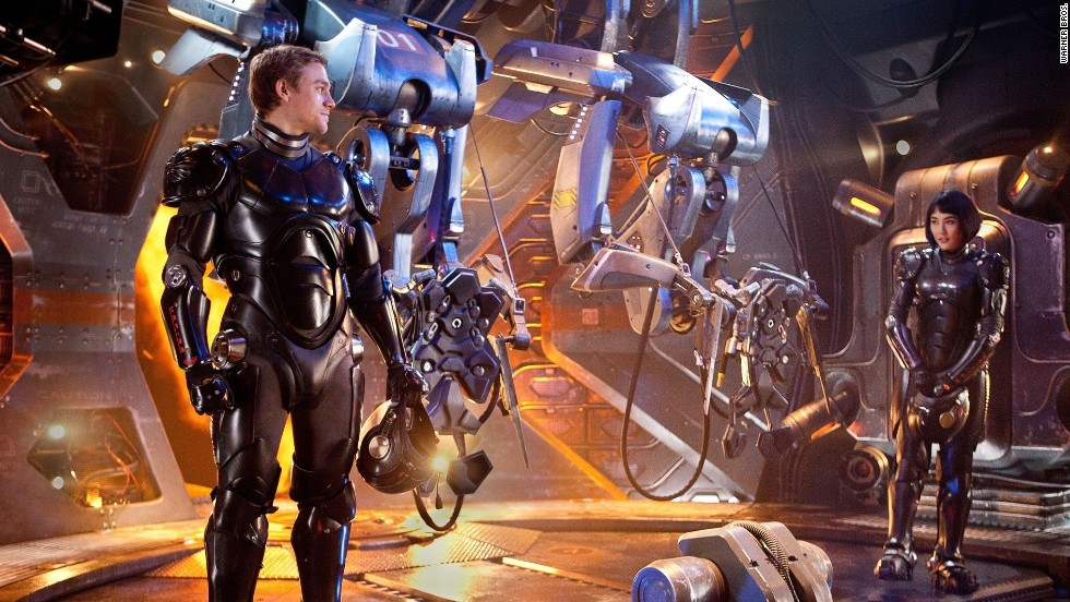 "Guillermo del Toro's sci-fi adventure ""Pacific Rim"" will bring a giant monsters vs. robots saga into theaters, while Salma Hayek, Kevin James, Chris Rock, Maya Rudolph, David Spade and Adam Sandler's ""Grown Ups 2"" opens as well."
