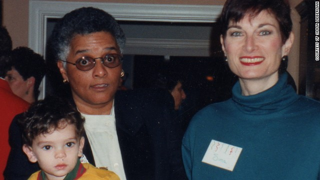 Simma Lieberman, right, and her partner Sandra Brown, who died in 2003, share a son, Avi