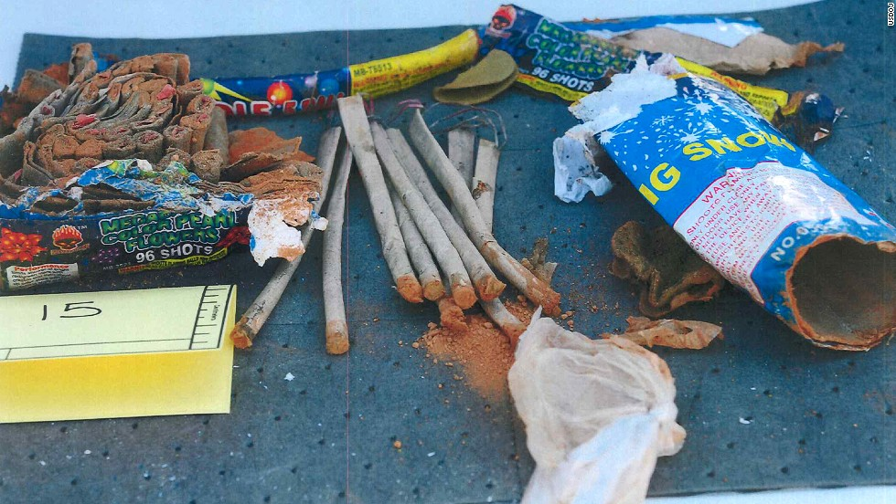 "Phillipos, Tazhayakov and Kadyrbayev are accused of removing items from Tsarnaev's dorm room after the bombings on April 15, 2013. The items they took included a backpack containing fireworks that had been ""opened and emptied of powder,"" according to the affidavit."