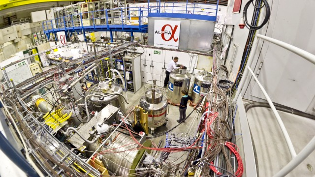 General views of the ALPHA experiment at CERN in Switzerland.