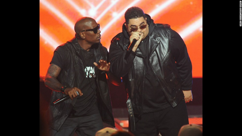 "Heavy D, right, fronted Heavy D & the Boyz and was much beloved <a href=""http://www.cnn.com/2011/11/08/showbiz/ent-heavy-d-dead/index.html"" target=""_blank"">before his death in 2011.</a> Here he performs with singer Tyrese at the 2011 BET Hip Hop Awards in Atlanta."