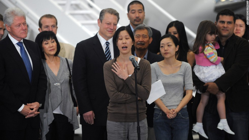 "North Korea has arrested Americans before, only to release them after a visit by a prominent dignitary. Journalists Laura Ling, center, and Euna Lee, to her left, spent 140 days in captivity after being charged with illegal entry to conduct a smear campaign. They were <a href=""http://www.cnn.com/2009/US/09/02/journalists.ordeal/index.html"">freed in 2009</a> after a trip by former President Bill Clinton."